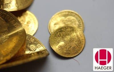 Einfach verbeulte und verkratzte Münzen verkaufen