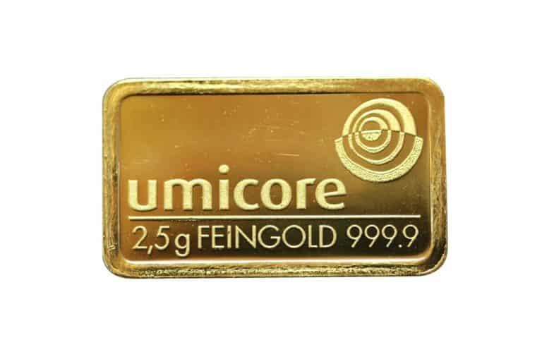 2,5g-Goldbarren